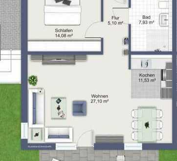 KfW55 Neubau! 2 Zimmer Gartenwohnung in kleiner Wohnanlage direkt im Zentrum von IN!