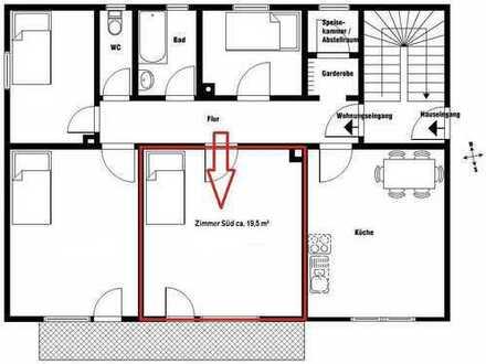 Zimmer in 4er WG (1 Zimmer mit 19,5m² - Pauschalmiete 360€)