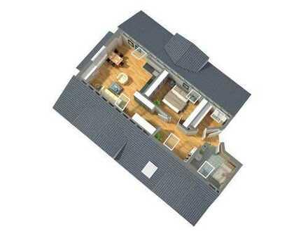 außergewöhnliche 2-ZKB Dachspitzwohnung mit offenem Grundriss