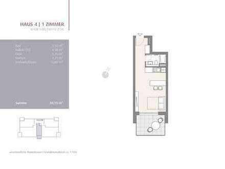 1-Zimmer Appartement im 2. OG! (413)