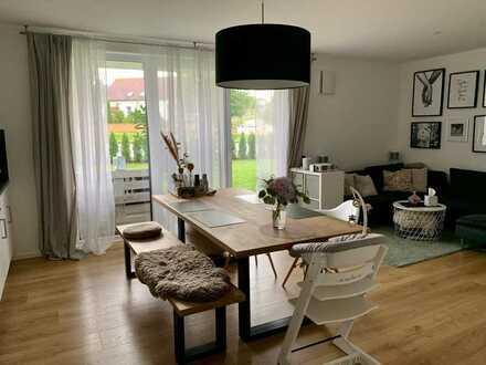 Neuwertige 3-Raum-Wohnung mit Terrasse und Einbauküche in Nattheim