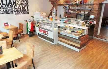 Liebevoll eingerichtet und vollständig neu ausgestattetes Café mit Eistheke