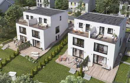 Doppelhaushälfte mit Einzelhaus Charakter und großem Garten.