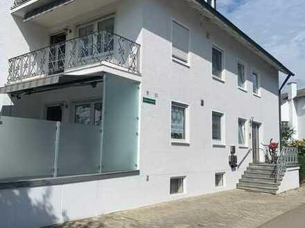 Dörfliche gr. Etagenwohnung im 3-Familienhaus mit Balkon