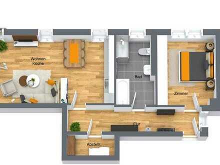 Stilvolle 2-Zimmer Wohnung mit Balkon in Bentwisch und Carportstellplatz