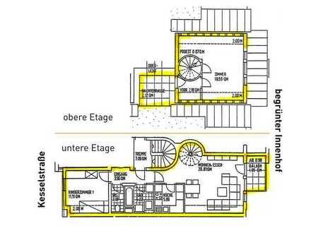 Attraktive 3-Zimmer- Maisonette-Wohnung in der Offenburger City