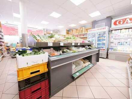 Gut frequentierter Supermarkt in Lauflage zum Ostfriedhof
