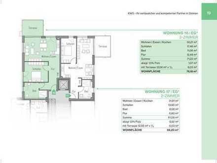 2-Zimmerwohnung mit Terrasse und Gartenanteil (Whg 17)