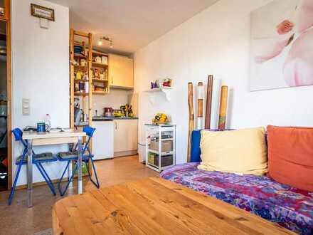 Gepflegte 1-Raum-Wohnung mit Balkon und Einbauküche in Teningen
