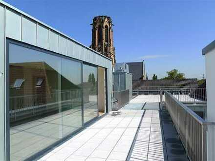Kurzfristiger Einzug möglich! Penthouse Wohnung mit großer Dachterrasse-im LCC-Zentrum von Krefeld!