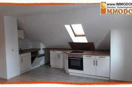 Hübsche 2,5 Zi. Dachgeschoss - Maisonetten - Wohnung mit EINBAUKÜCHE in Oberhohndorf zu vermieten!