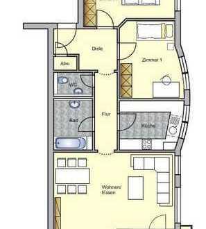Helle und geräumige 3 1/2 Zi. Wohnung mit Balkon