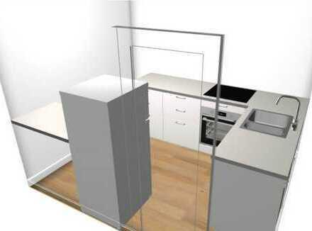 Erstbezug nach Renovierung - Attraktive 2 Zimmer DG-Wohnung mit Küche in guter Lage