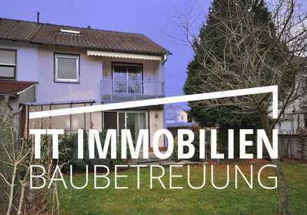 Real geteiltes 1-Fam.-Haus (DHH) mit Garten und Garage in Darmstadt-Eberstadt