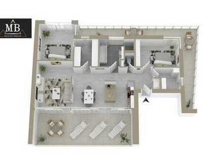 Penthouse mit zwei Dachterrassen