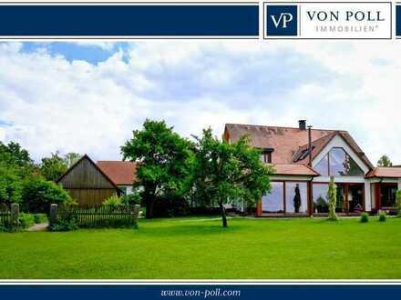 Repräsentatives Landhaus mit weitläufigem Grundstück in idyllischer Ortsrandlage