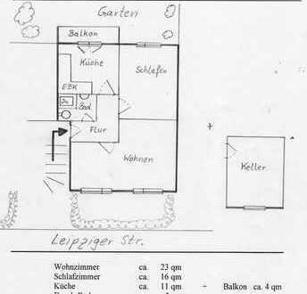 Findorff - 2 Zi- 62qm - Einbauküche / Balkon / Garten