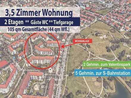 3,5 Zimmer über 2 Etagen, nur 5 Gehmin. zur S-Bahn Unterschleißheim