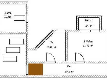 Tolle 3-Raum-Wohnung mit Balkon und Einbauküche im Zentrum von Fürstenwalde