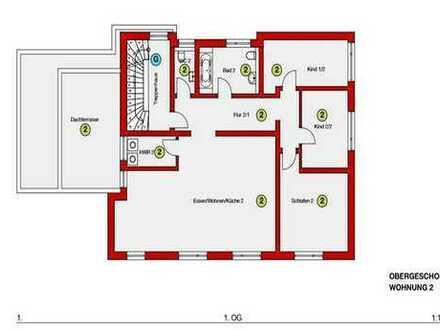 Neuwertige 4,5-Zimmer-Wohnung mit Balkon und Einbauküche in Laupheim