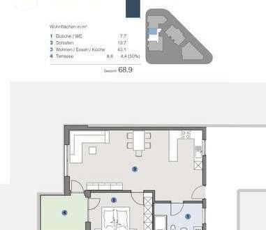 EG; Gemütliche, moderne Wohnung für Paare - T5 Wohnareal - fortschrittlich, nachhaltig, innovativ
