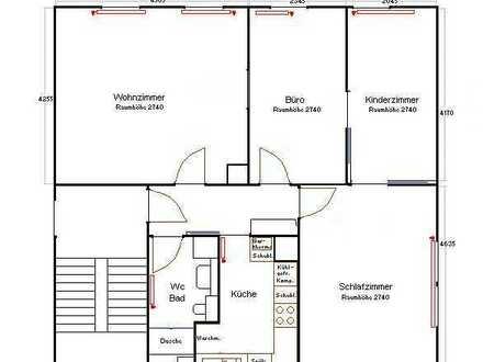 Ruhige 4-Zimmer-Wohnung mit Einbauküche in Stuttgart - Botnang