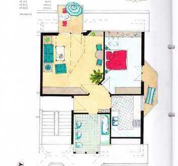Vollständig renovierte 3-Zimmer-DG-Wohnung mit Balkon und Einbauküche in Bad Saulgau