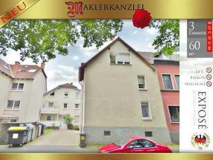 +++ NEU +++ 60m² Wohnung im 3 Familienhaus in ruhiger Sackgasse; 1. OG; Bochum (zentrumsnah)