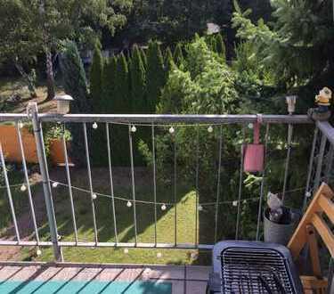 Attraktive 2-Zimmer Wohnung mit Blick vom Balkon auf sonnengeküsste Grünflächen