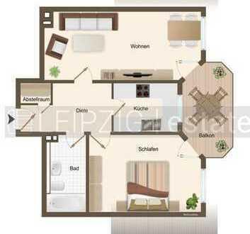 Herrliche 2 Zimmerwohnung im Dachgeschoss mit Balkon