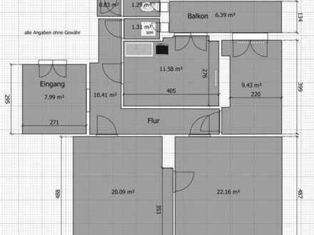 Ruhige, geräumige 3-Zimmer-Wohnung in der Westvorstadt in Weimar