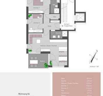 Hochwertige 3-Zimmer Wohnung mit Balkon