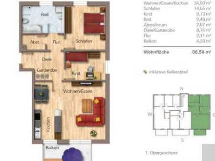 Attraktive 3-Zimmer-Wohnung mit Balkon und EBK in Roding