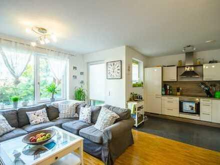 Komfortable Dreizimmerwohnung mit Garten und Terrasse
