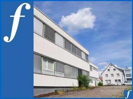 Produktionsgebäude * Freifläche * Wohnhaus m. 3 Whg. * Großes MI-Grundstück *