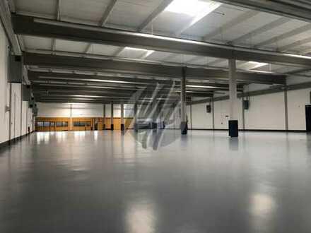 Grundstück (12.000 m²) mit Lager-/Produktion (3.100 m²) & Büro (500-1.400 m²) zu vermieten