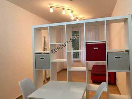 Möblierte 1-Zi-Wohnung MA Jungbusch, Paketkauf möglich