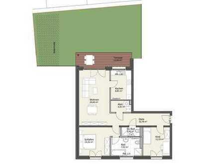Erdgeschoss mit Gartenanteil - Wohnung B2