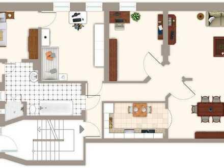 Wall-Lage: Schicke, sanierte 4-5 Zimmer-Altbauwohnung mit Blick ins Grüne