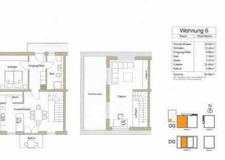 3-Zimmer-Maisonette Wohnung mit Dachterrasse, Balkon u. hochwertiger Einbauküche