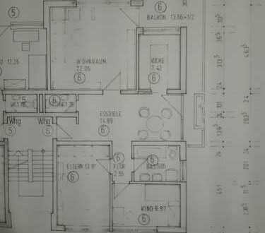 Gepflegte Wohnung mit dreieinhalb Zimmern sowie Balkon und Einbauküche in Freising