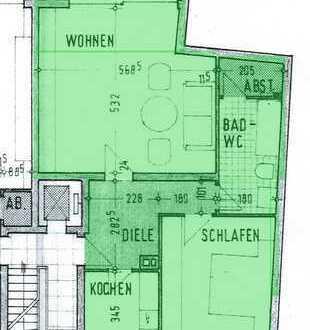 2 Zimmer Wohnung Küche Diele Bad 2 Balkone - zentral in Köln-Wahn - Option Stellplatz