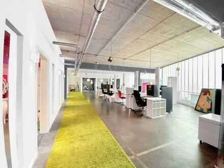 Büroteilbereich offen+ geschlossen mit Gemeinschaftsflächen (KA-Mühlburg)