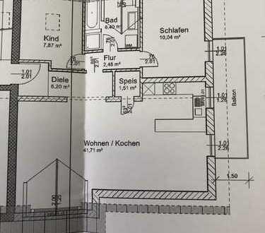 Erstbezug einer 2,5 Zimmer Dachgeschoss-Wohnung