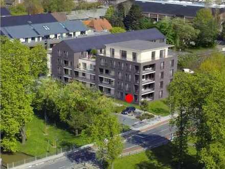 Neubau-Erdgeschosswohnung, behindertengerecht in Top Lage, Nähe Altstadt und Hafen, www.deWeerdt.de