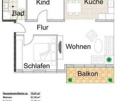 Attraktive, neuwertige 3-Zimmer-Wohnung zur Miete in Mannheim