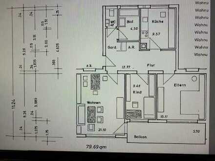 3-Zimmer-Wohnung in Mosbach-Neckarelz