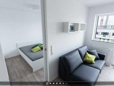 Vollmöbliertes 2-Zimmer-Apartment (Suite) mit Terrasse - Zwischenmiete für ein Jahr