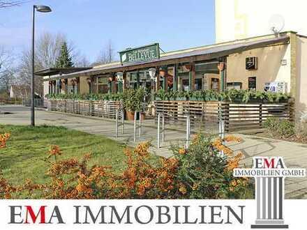 Restaurant mit separatem Festsaal und Biergarten