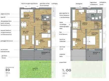 """""""Haus im Haus"""" - XXL Variante mit 117m² Wfl. - Atelierhaus mit Südgarten (Nr. 1)"""